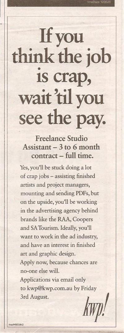 CrapJob-creative-job-ad