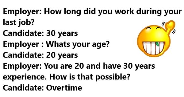 funny interview jokes
