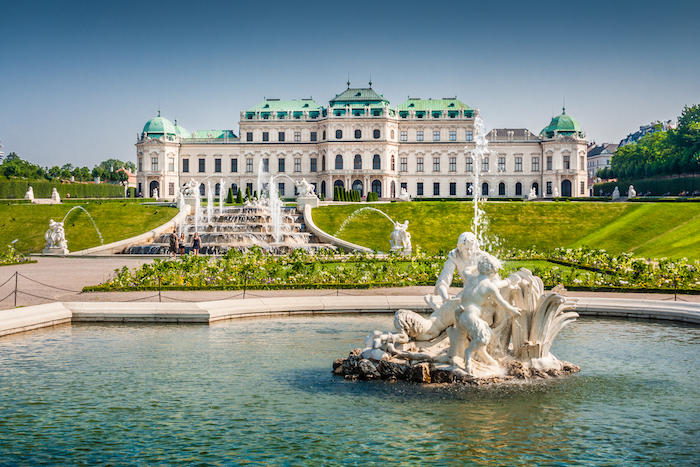 Beautiful-view-of-famous-Schloss-Belvedere-built-by-Johann-Lukas-von-Hildebrandt-as-a-summer-residence-for-Prince-Eugene-of-Savoy-in-Vienna-Austria-shutterstock_249139849